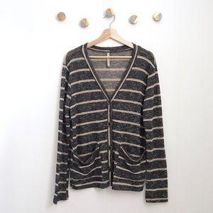 Paper Crane Striped Boyfriend Cardigan sweater | M